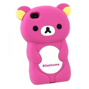 Rilakkuma by San-X Japanese Teddy Bear character Hot Pink iphone