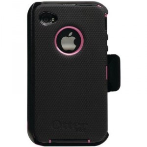 girls black and hot pink iphone case