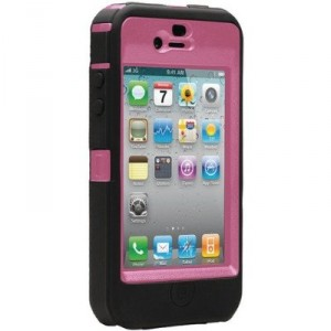 Universal Defender Black and Hot Pink iphone case