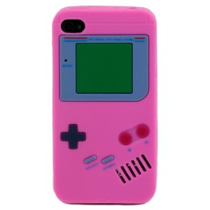 Gamer Girl Pink Gameboy iphone case