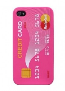 Credit Card Pink iphone
