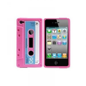 Girls 80s Pink Cassette Tape iphone case