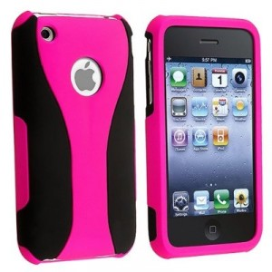 Girls Sporty Black and Hot Pink iphone case