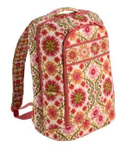 Folksy Red Floral backpack by Vera Bradley