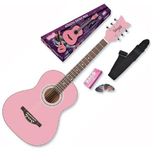 Acoustic Pastel Baby Pink Guitar by Daisy Rock