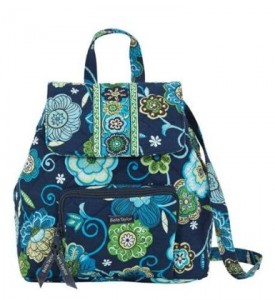 Blue and Green Floral Backpack by Bella Taylor