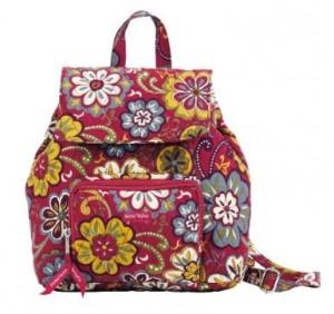 Girls Red Bella Taylor floral knapsack