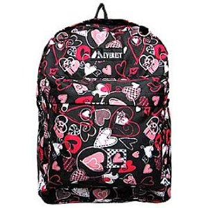 Black and Pink Heart backpack by Everest