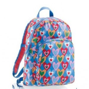 Blue and Bright Colorful Hearts Backpack by Agatha Ruiz de la Prada