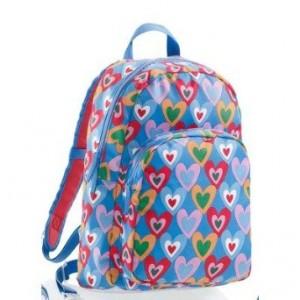 Blue and Bright Colorful Hearts Backpack by Agatha Ruiz de la Prada