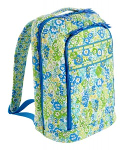 Green & Blue Floral Backpack by Vera Bradley