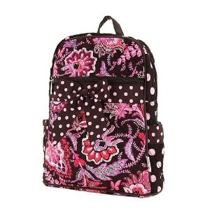 Paisley Black & Pink Floral Backpack by Belvah