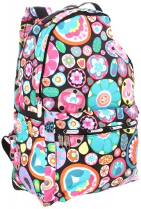Bright and Colorful Floral Backpack by Lesportsac
