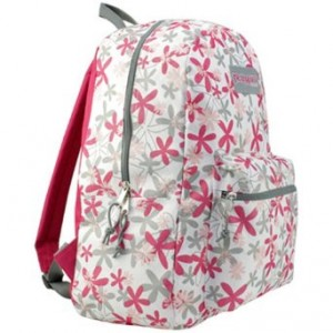 White & Pink floral backpack by TrailMaker
