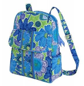 Blue floral backpack by Vera Bradley