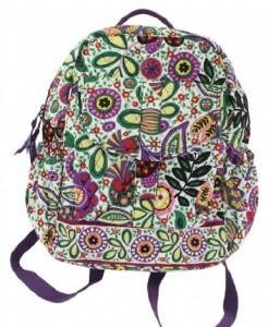 Green multicolored Flower backpack by Vera Bradley