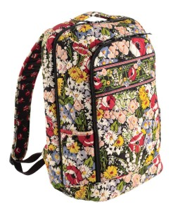 Colorful Floral Vera Bradley Backpack - poppies and other flowers
