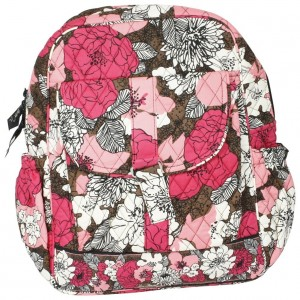 Pink floral backpack by Vera Bradley