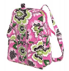 Pink floral laptop backpack bag by Vera Bradley
