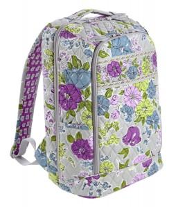 Purple floral backpack by Vera Bradley