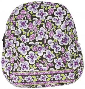 Purple Flowers Backpack by Vera Bradley