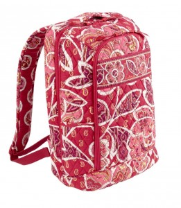 Red Floral laptop Backpack by Vera Bradley