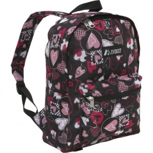 Black and Pink hearts backpack by Everest
