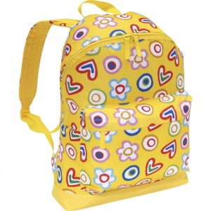 Bright yellow flowers and hearts backpack by Miquelrius Agatha Ruiz de la Prada