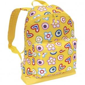 Bright yellow flowers and hearts backpack by Miquelrius Agatha Ruiz de la Prada