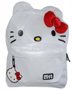 White Hello Kitty Backpack with Red Bow
