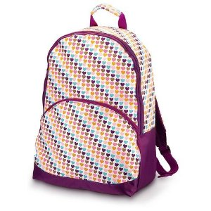 Muted Rainbow Hearts pattern backpack