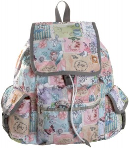 Girls pastel butterflies, birds and  flowers backpack