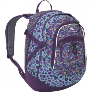 Purple Floral backpack from the High Sierra Fat Boy series