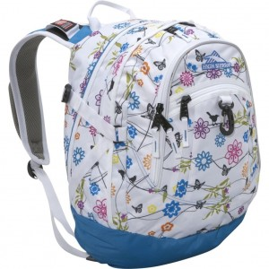 White Floral Backpack from the High Sierra Fat Boy series