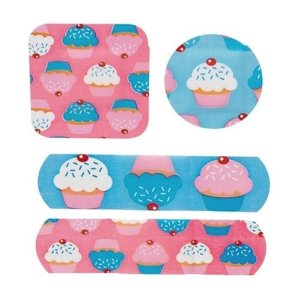 Sweet Cupcakes pattern bandaid