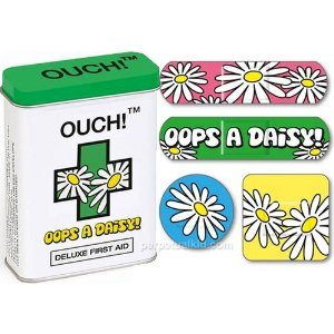 oops a daisy bandaids with flower decoration - floral pattern bandages