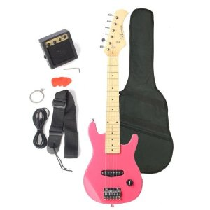 Barcelona kids series pink electric guitar for girly girls