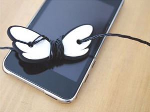 Cute Angel Wing Earphone Cord Manager