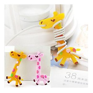 Cute Cartoon Giraffe cable winder