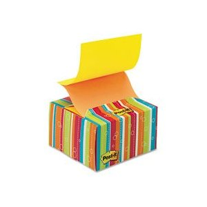 Rainbow stripes post-it dispenser