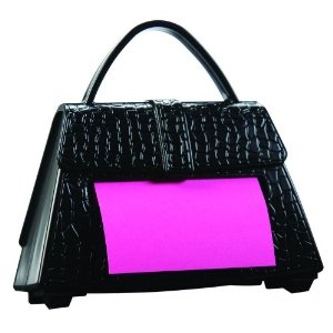 Handbag post-it dispenser