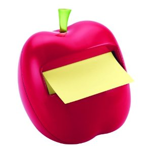 Cute red apple post-it dispenser