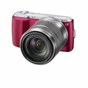Pink DSLR camera