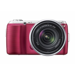 Hot Pink DSLR camera - Sony NEXC3