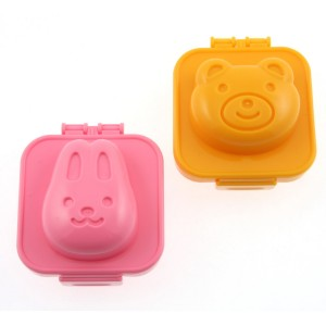 Teddy bear & Rabbit egg molds