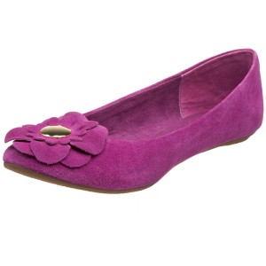 Magenta Pink ballet flats with flower by Steve Madden