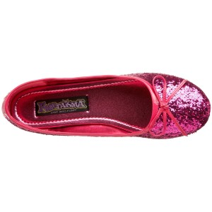 Hot pink glitter ballet flats: Funtasma by Pleaser Women's Star-16G Flat