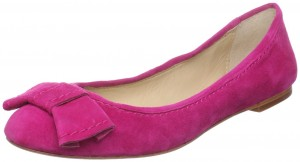 Hot pink ballet flats with bow by Dolce Vita