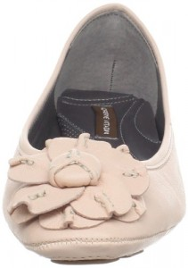 Pale Pink Ballet flats with flower decoration