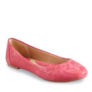 Pink lace floral design ballet flats